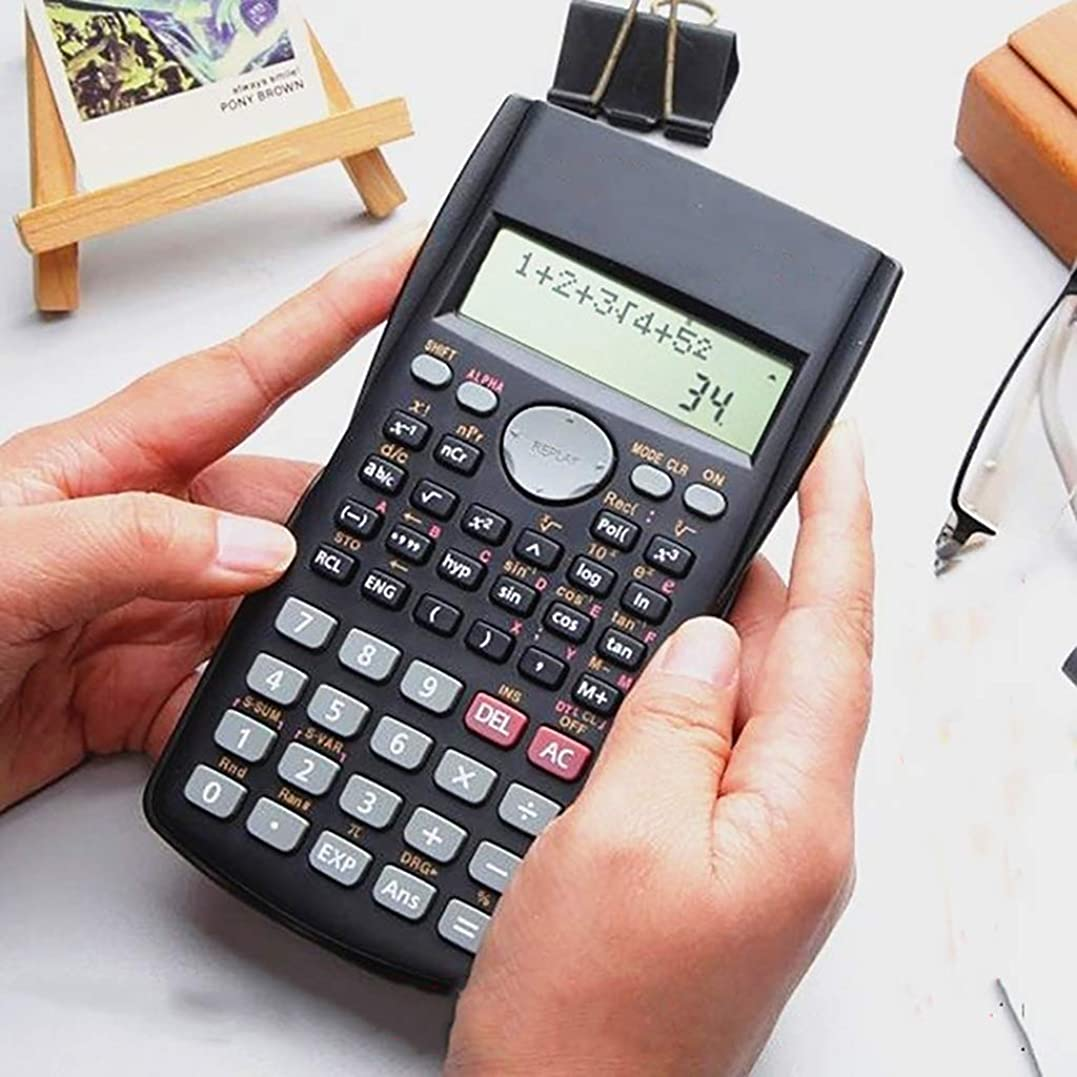 最初に資格情報カッター大学の高校生はテスト専用の電卓機能コンピュータを使用します (Color : Black)