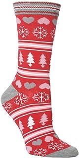 ZEZKT, medias de navidad otoño e invierno mujer calcetines estampados casuales calcetines de punto de dibujos animados lindo calcetines de estar por casa moda casual medias