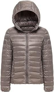 Women's Hooded Ultra Light Weight Outdoor Coat Packable Outwear Puffer Down Jacket