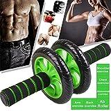 LOVEYue Equipo De Ejercicio Rodillo para Entrenamiento Muscular Abdominal Fitness Gym Home Train Tool, Te Hace Tener Un Cuerpo Ideal Negro + Verde