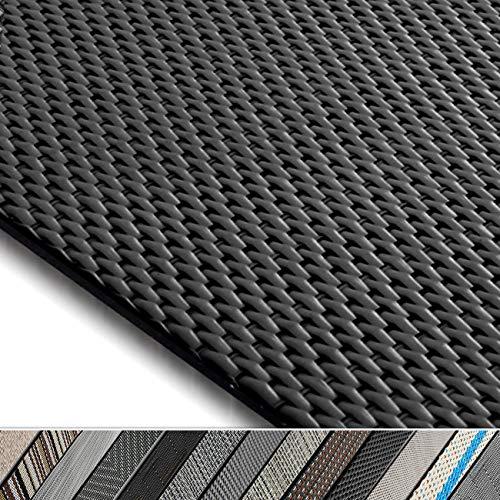 casa pura Design Bodenschutzmatte Padua in 6 Größen | dekorative Unterlegmatte für Bürostühle oder Sportgeräte (120 x 90 cm)