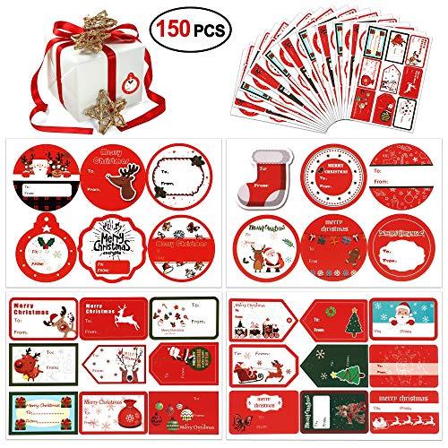 Etiquetas Regalo Navidad Adhesivas Marca HOWAF