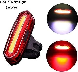 Potente LED Faro Trasero Bici Recargable Dewanxin Luz Trasera para Bicicleta Recargable USB Luz Trasera Bici Impermeable Cola luz 4 Modos de Brillo 2 Piezas