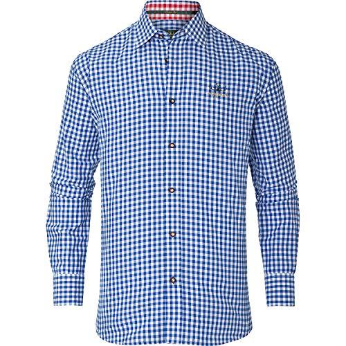 Wiesnkönig Herren Original Trachtenhemd, Blau (Weiß-Blau 706), XX-Large (Herstellergröße: XXL)