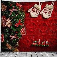 タペストリークリスマスウォールハンギングクリスマスグローブホームデコクリスマスツリープリントタペストリーラージサイズタペストリー150x100cm