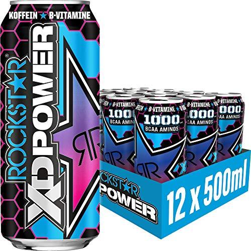 Rockstar Energy Drink XD Power Berry Blast - Koffeinhaltiges Erfrischungsgetränk für den Energie Kick, EINWEG (12x 500ml)