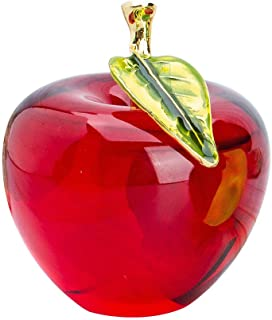 H&D Glaze Crystal Apple Paperweight Craft Decoration (red)