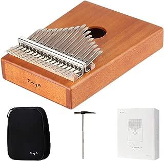 Enya 17 Keys Kalimba Thumb Piano Solid Mahogany with Case and Tuning Hammer (EK17-M1)