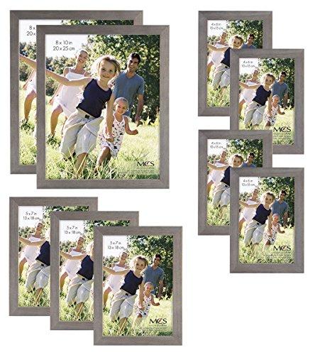 MCS Gallery Wood 9-Piece Frame Set, Grey (65617)