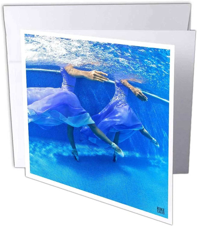 3dRosa gc_10032_1 Grußkarte, 15,2 x 15,2 15,2 15,2 cm, Ballerinas tanzt im Schwimmbad, 10,2 cm, 6 Stück B07BJD26JZ | Discount  | Hochwertige Produkte  | Schöne Farbe  5fa4fe