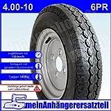 Reifen Anhängerreifen 4.00-10 6PR 71M inkl. Schlauch für Pkw Anhänger