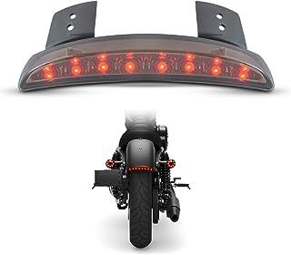 TUINCYN Luz trasera de la motocicleta con lente de humo Luz del guardabarros trasero cortada Luz de freno trasera Para Harley Sportster XL883N 1200N XL1200V XL1200X
