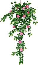1 pak Kunstbloemen Rose Vine, Nep Bloemen Muur Opknoping voor Outdoor Binnen Tuin Muur Arrangementen Decoratie Banket Groe...