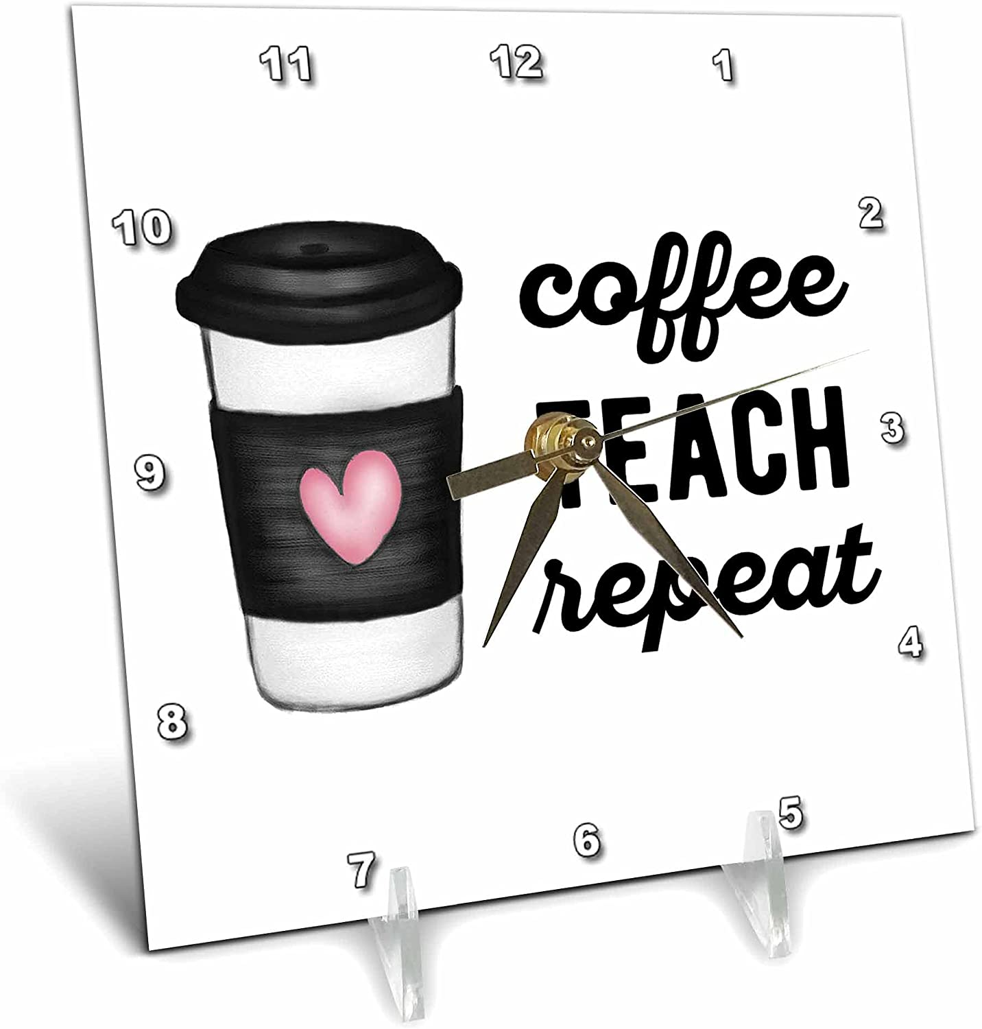 3dRose Coffee Teach Repeat Max 77% OFF with H Fashionable Clipart Cup a of