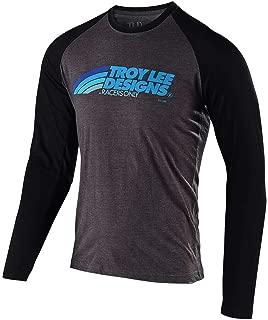 Troy Lee Designs Mens Long Sleeve Velo T-Shirt (X-Large, Charcoal/Black)