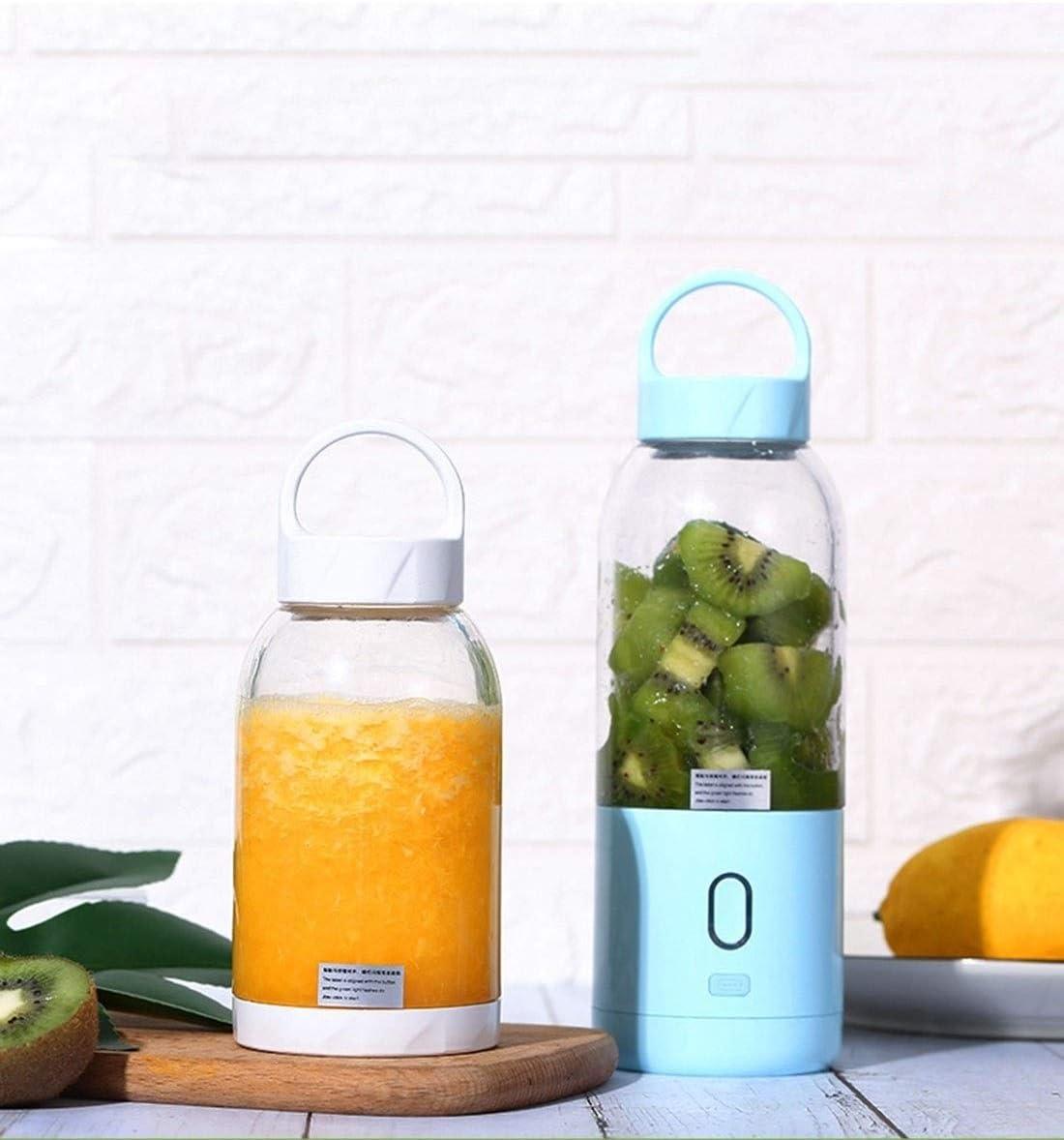 Juicer Machines, multifunctionele draagbare juicer kop mini huishoudelijke high power USB elektrische vruchtenpers (Color : Blue) Blue