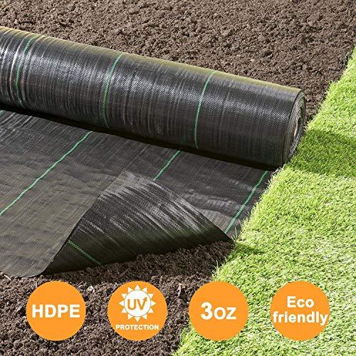 Takefuns - Membrane de Protection de Sol en Tissu pour Jardin, allée, Jardin - Tapis de Jardinage - Résistant - Tissé - pour Lutter Contre l'érosion du Sol et réduire Les Mauvaises Herbes