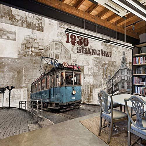 Bdhnmx-Carta, 3D wandbehang, oude Shanghai, retro, gebouw tv-achtergrond, wanddecoratie, woonkamer, slaapkamer, vliesbehang, 3D-behang 200 x 140 cm.