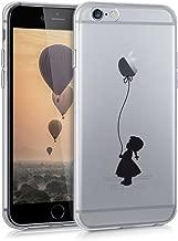 kwmobile Apple iPhone 6 / 6S Cover - Custodia in silicone TPU per Apple iPhone 6 / 6S - Backcover cellulare nero / trasparente