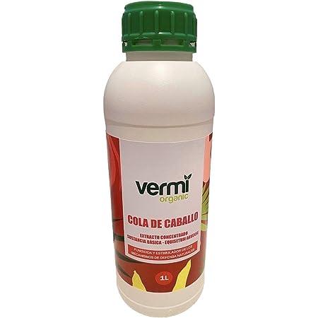 VERMIORGANIC Fungicida Bioestimulante Cola de Caballo Ecológico, 1L. Preventivo y curativo de Las Enfermedades fúngicas.