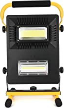 80W LED Work Light Rechargeable 2*COB, 2400LM IP65 Waterproof Detachable Working Lights with Stand, Outdoor 6000K Daylight...