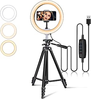 SEADEC LED Ring Light Modes with Tripod Stand Smartphone Holder Use for Shooting, Tiktok, Musically (3 Mode Ring Light)