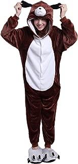 Honeystore Unisex Brown Dog Pyjamas Halloween One Piece Costume Cosplay Party