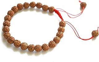 KIKILA Tibetan Mala 5 Mukhi Rudraksha Wrist Bracelet for Meditation Japa Prayer Charm Bracelets