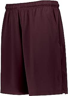 Russell Men's Three Pocket Coaches Shorts Maroon Medium