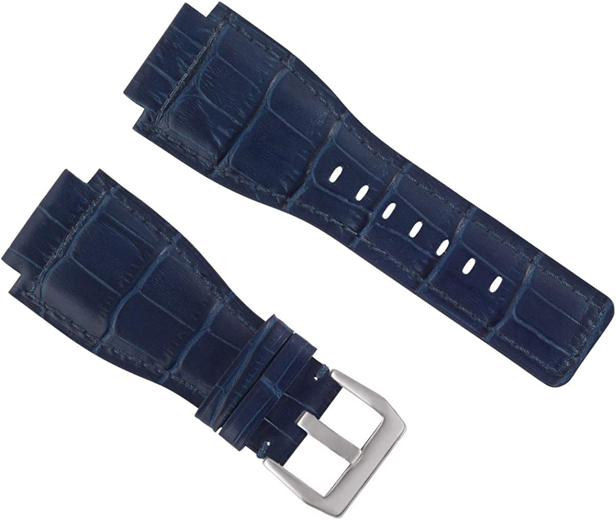 New 24mm Tucson Mall Leather Watch Band Strap with Bell Compatible Some reservation Br Ross