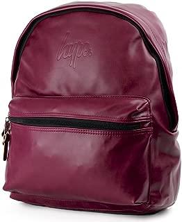 HYPE Embossed Script Backpack Burgundy School bag SS18BAG-115 HYPE Bags