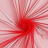 Fabulous Fabrics Tüll rot, Uni, 145cm breit – zum