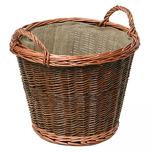 raik 21.02.609.2 Weidenkorb, hell, rund, mit Jute-Einlage, 50 cm