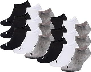 PUMA Unisex-Adults Sneakers Sports Socks Grey, White, Black 3,5