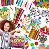 Arts and Craft Supplies for Kids – 1500+pcs in Easy Store Bag, Kids Craft Art Supply, Kids Scrapbooking...