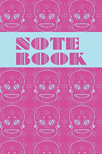 Notebook: Sugar Skull - Day of The Dead - Composition Book .  Cornell Notes  - Large Pink Blue Sugar Skull Tiled