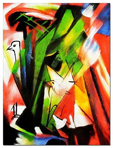 elOleo Franz Marc - Vögel 40x30 Gemälde auf Leinwand handgemalt 88790A