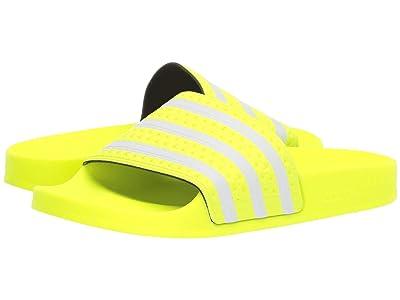 adidas Adilette (Solar Yellow/Footwear White/Solar Yellow) Men