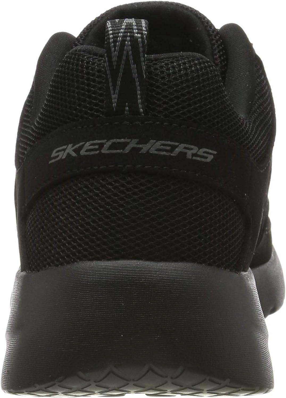 Skechers Dynamight 2.0-fallford, Scarpe da Ginnastica Uomo Nero Black Leather Mesh Pu Trim Bbk