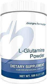 Designs for Health L-Glutamine Powder 3000mg - Amino Acid for Gut + Immune Support (166 Servings / 500g)