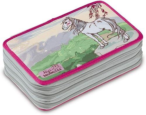 compras en linea NICI - Estuche Estuche Estuche de 3 Cremalleras Caballo Miracle, Color gris (38761)  Sin impuestos