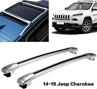Autoxrun 2Pcs Roof Rack Cross Bars Crossbars with Locking Key Compatible Fit 2014-2019 Jeep Cherokee