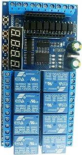 Ohomr Modulo relè 12v 8 canali relè Sostituzione della Scheda PRO Mini PLC per Arduino Delay Timer Scheda interruttori Blu