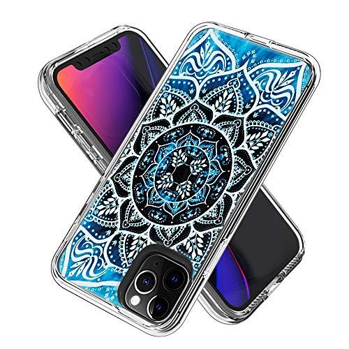 Coque iPhone 11 Pro (5.8inch), Silicone Bumper, Transparent PC + TPU Hybride Boîtier de Protection avec Carte de Mode (Mandala)