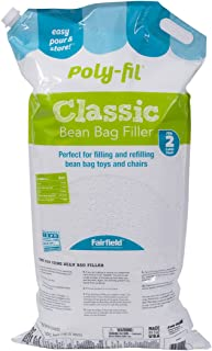 Fairfield Poly-Fil Classic Bean Bag Filler, 2 cu. ft, White