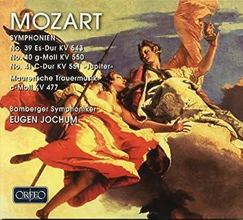 Mozart: Symphonies Nos. 39-41 & Maurerische Trauermusik, K. 477