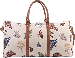 Signare Tapestry Women's Big Holdall Carry On Travel Luggage Bag Butterfly (BHOLD-Butt)
