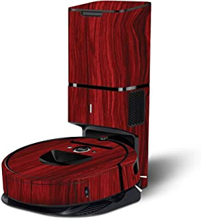 MightySkins Skin Compatible with iRobot Roomba i7+ Robot Vacuum - Cherry Grain | Protective, Durable, and Unique Vinyl Dec...