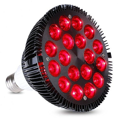 KINGBO 36W Growing Light Bulbs All Deep Red 660nm Plant Grow Lights for Indoor Plants Flowering Bloom and Fruiting, Grow Spectrum Enhancement and Light Therapy