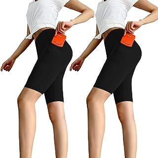 Aoliks Women's High Waisted Yoga Shorts Two Side Pocket - Best Pants for Running,Dance,Bike